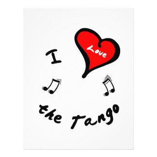 Artículos de la danza del tango - corazón de I el  Tarjeta Publicitaria