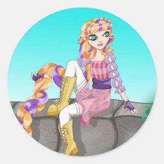Artículos de Rapunzel Pegatina Redonda