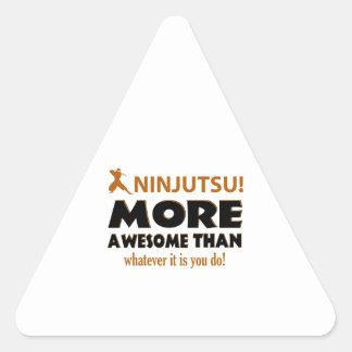 Artículos del regalo de los artes marciales de pegatina triangular