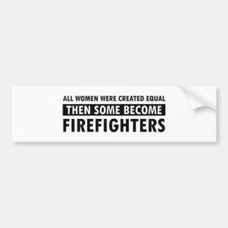 Artículos del regalo de los bomberos pegatina para coche