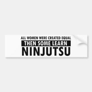 Artículos del regalo de Ninjutsu Pegatina De Parachoque