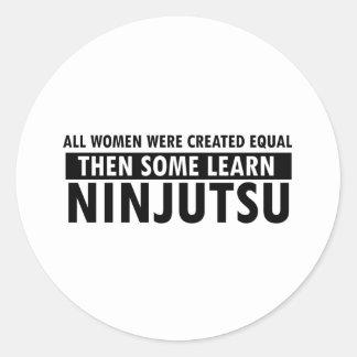 Artículos del regalo de Ninjutsu Pegatina Redonda