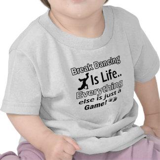 Artículos del regalo del break dance camisetas