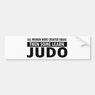Artículos del regalo del judo pegatina de parachoque