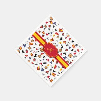 Artículos españoles con la bandera para añadir su servilletas desechables
