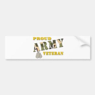 Artículos orgullosos del veterano del ejército etiqueta de parachoque