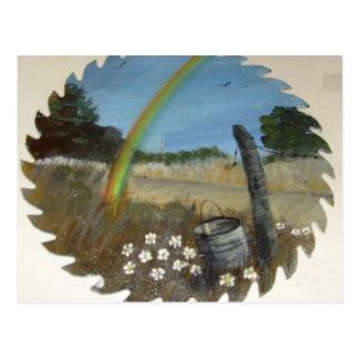 Artículos pintados a mano postal