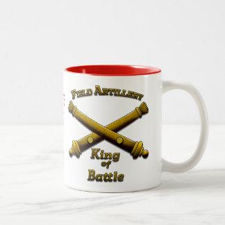 Artillería de campaña - rey de la batalla - taza de café de dos colores