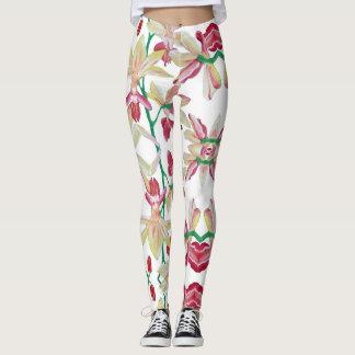 """Artisan_Wear - pantalones de la yoga en """"orquídeas"""