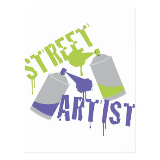 Artista de la calle postal