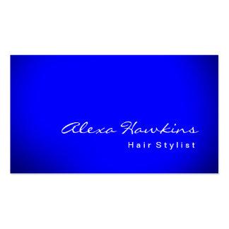 Artista de maquillaje azul moderno del estilista tarjetas de visita