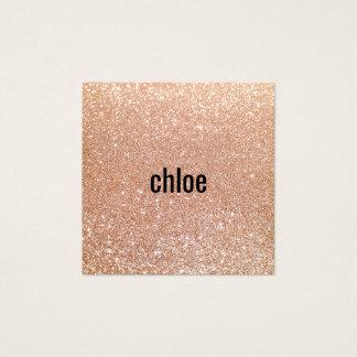 Artista de maquillaje color de rosa moderno simple tarjeta de visita cuadrada