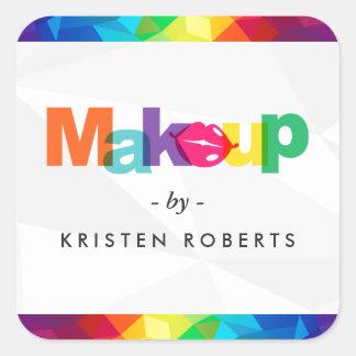 Artista de maquillaje colorido moderno de los pegatina cuadrada