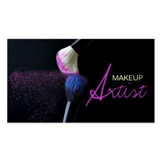 Artista de maquillaje, cosmetología, tarjeta de tarjetas de visita