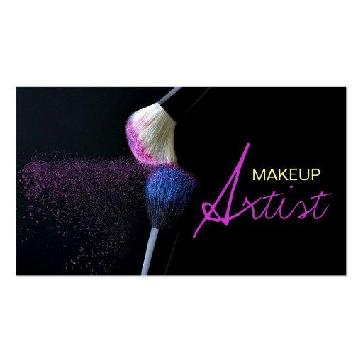 Artista de maquillaje, cosmetología, tarjeta de tarjetas personales