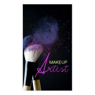 Artista de maquillaje, cosmetología, tarjeta de plantillas de tarjetas de visita