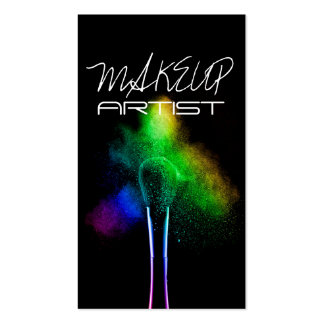 Artista de maquillaje, cosmetología, tarjeta de vi