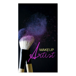 Artista de maquillaje, cosmetología, tarjeta de vi plantillas de tarjetas de visita