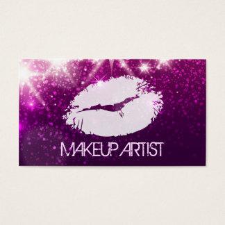 Artista de maquillaje de la cosmetología - brillo tarjeta de negocios