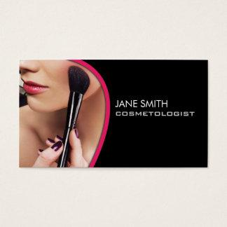 Artista de maquillaje de la cosmetología del tarjeta de negocios