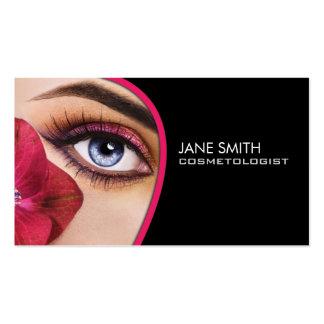 Artista de maquillaje de la cosmetología del tarjetas de visita