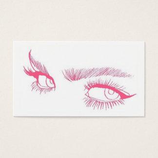 Artista de maquillaje de los ojos tarjeta de visita