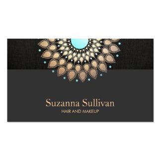 Artista de maquillaje del negro del oro del salón tarjeta de visita