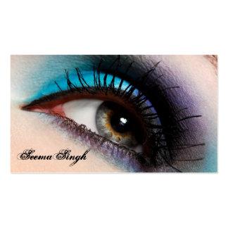 Artista de maquillaje del ojo de la aguamarina tarjeta personal