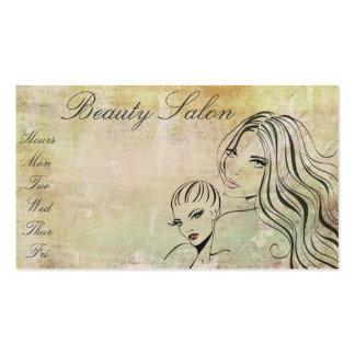 Artista de maquillaje elegante del salón de tarjetas de visita