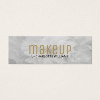 Artista de maquillaje floral gris claro elegante tarjeta de visita pequeña