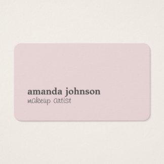 Artista de maquillaje gris color de rosa elegante tarjeta de visita