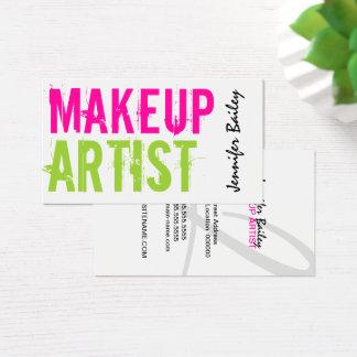Artista de maquillaje intrépido del texto tarjeta de negocios