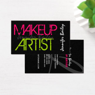 Artista de maquillaje intrépido tarjeta de negocios