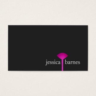 Artista de maquillaje negro simple, cepillo tarjeta de negocios