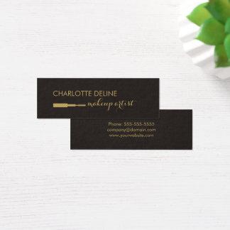 Artista de maquillaje oscuro minimalista del tarjeta de visita mini