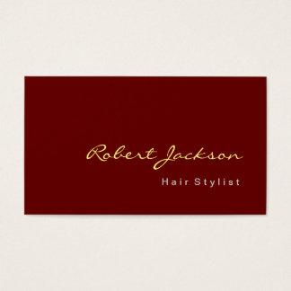 Artista de maquillaje rojo pardusco del consultor tarjeta de negocios