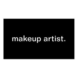 Artista de maquillaje tarjetas de visita