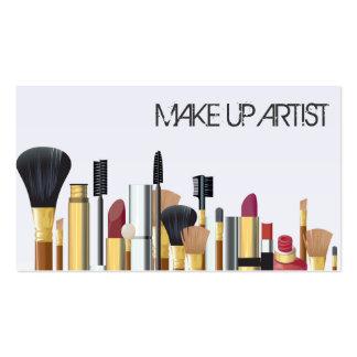 Artista de maquillaje, tarjeta de visita de la