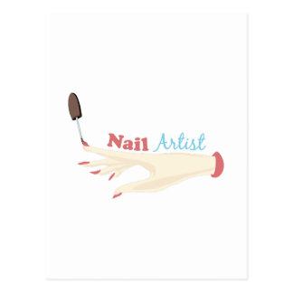 Artista del clavo tarjeta postal