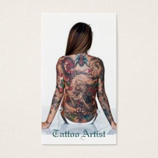 Artista del tatuaje tarjeta de negocios