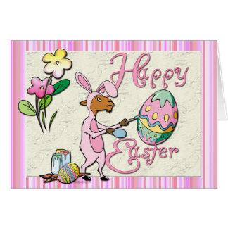 Artista feliz de la cabra de Pascua Tarjeta De Felicitación
