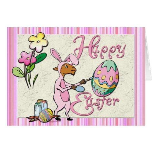 Artista feliz de la cabra de Pascua Tarjetas