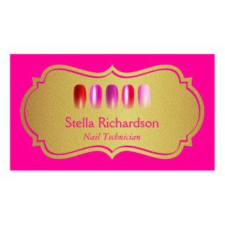 Artista moderno del clavo - rosa de la belleza y tarjetas de visita
