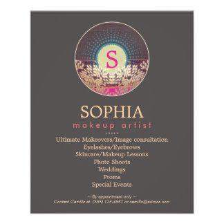 Artista y estilista adornados de maquillaje del folleto 11,4 x 14,2 cm