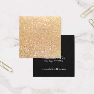 Artistas de maquillaje modernos simples del brillo tarjeta de visita cuadrada