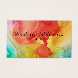 Artistas únicos coloridos profesionales tarjeta de negocios