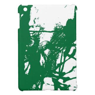 Artistic green ink texture