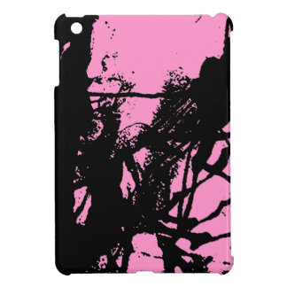 Artistic pink ink black texture