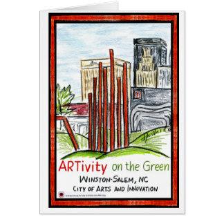 ARTivity en la tarjeta de felicitación verde
