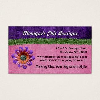 Artsy decorativo de la flor elegante elegante tarjeta de negocios